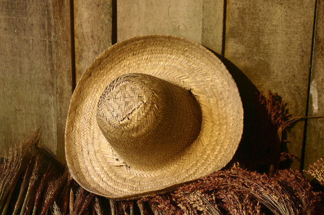 straw hat reminds me of Grandpa Tanner